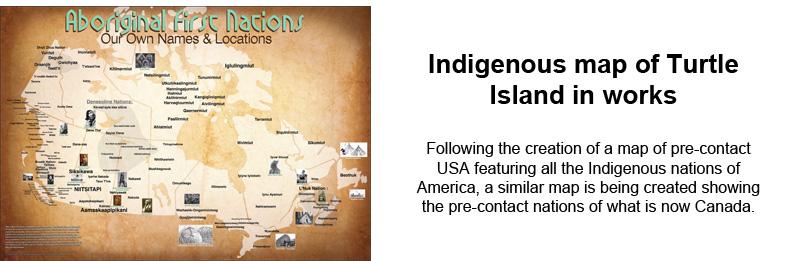 Turtle Island Canada Map Indigenous map of Turtle Island in works | Wawatay News Online